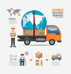 Infographic Social Business delivery service vector image