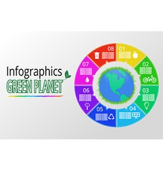 infographics background vector image
