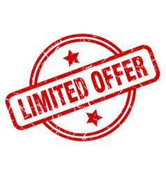 limited offer vector image
