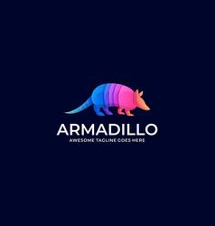 Logo armadillo walking gradient colorful vector