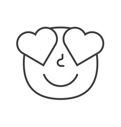 love smile fase black and white emoji eps 10 vector image