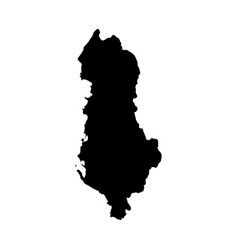 map albania isolated black vector image