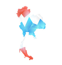 Map of thailand polygon vector