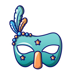 masquerade mask icon cartoon style vector image