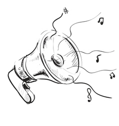 Megaphone sketch icon vector image