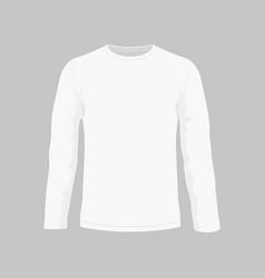 Mens white long sleeve t-shirt vector