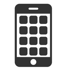 Mobile apps flat icon vector