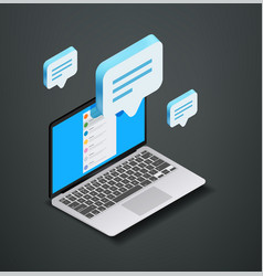 Modern social media concept with messenging vector