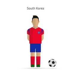 National football player South Korea soccer team vector
