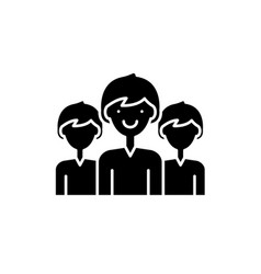 office staff black icon sign on isolated vector image