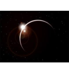 Orbit background vector