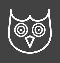 Owl face vector