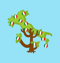 patriotic apple tree italy map apples italiann vector image