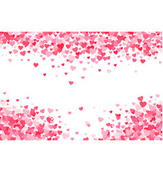 Pink red valentines days hearts background vector