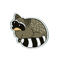 Racoon cartoon vector