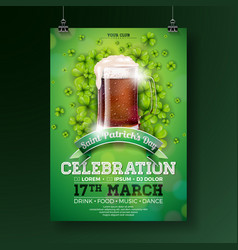 saint patricks day party flyer vector image