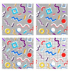 set 80th patterns vector image