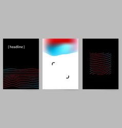 Set modern minimal design covers with abstract vector