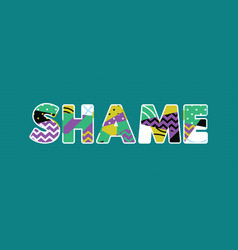 Shame concept word art vector