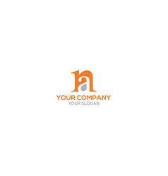 simple na logo design vector image
