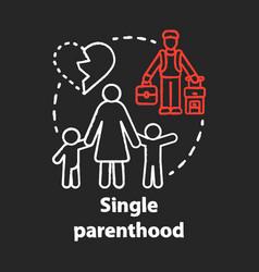 Single parenthood chalk concept icon marital vector