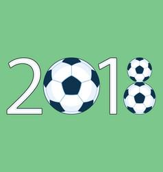 soccer 2018 lettering vector image