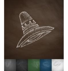 Sombrero icon Hand drawn vector