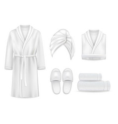 spa clothing mock up set vector image