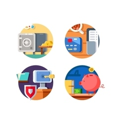Storage money in bank vector image