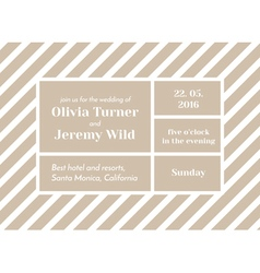Striped invitation vector