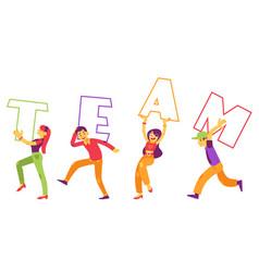 team text design vector image