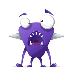 Terrible cute monster - cartoon characters vector