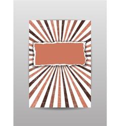 Torn paper cover brochure flyer background vector