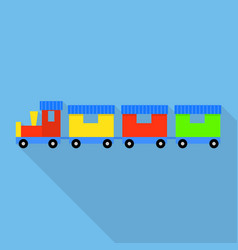 train small toy icon flat style vector image