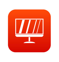 tv icon digital red vector image