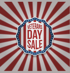 Veterans day sale american emblem with text vector