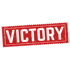 victory grunge rubber stamp vector image