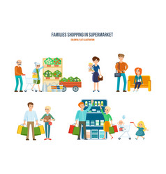 walking in shopping center procurement of goods vector image