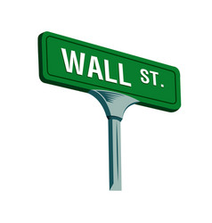 wall street sign in new york vector image