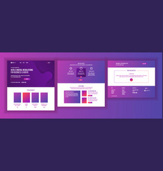 Website template page business project vector
