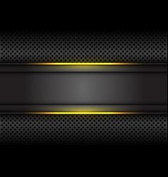 Yellow light line dark grey banner on circle mesh vector
