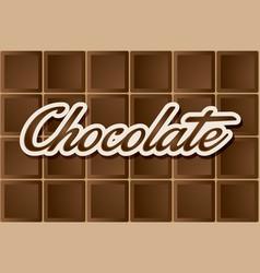 dark chocolate type vector image