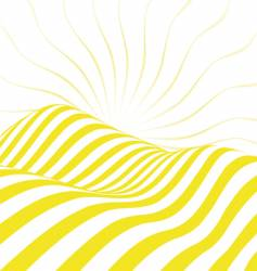 sunny valley vector image vector image