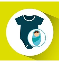 boy newborn wrap design vector image