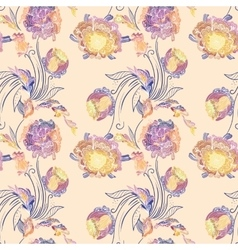 Japanese Style Floral Pattern vector image