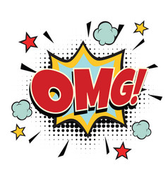 omg comic word vector image