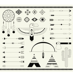 Tribal native american indian element vector image