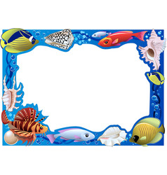 underwater frame vector image vector image