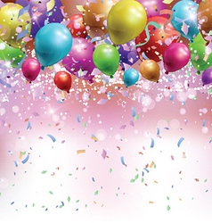 Balloons confetti and streamers background 0305 vector image