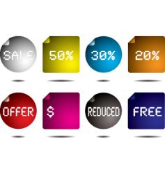 button flap vector image vector image